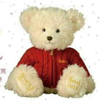 2015 Harrods跨年年度熊-班尼狄克  全球限量3000隻 ●全球獨家台灣限定「30週年紀念熊」收藏性滿分!
