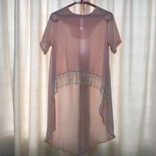 Pastel Pink Long Top / High-Low Top