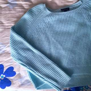 Topshop Knitted Cropped Sweater