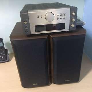 DENON AM/FM Amplifier With Bookshelves Speaker