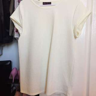White Pattern Top