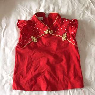 6-12mo Baby Girl Chinese New Year Top