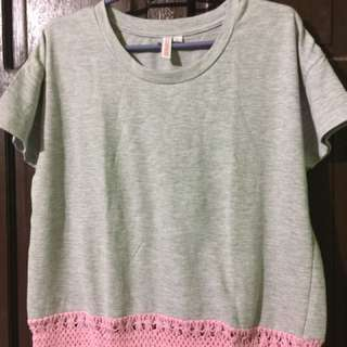 Penshoppe gray blouse