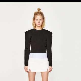 Zara White Skirt with side slits