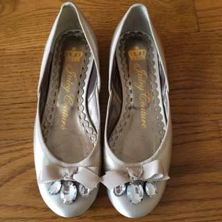 Juicy Couture Silver Flats Size 36