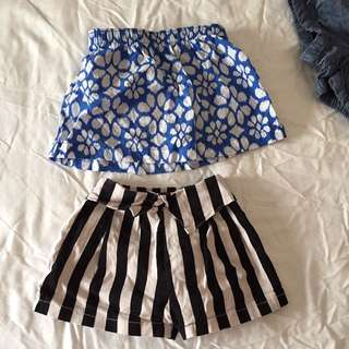 12mo Carters Little Girl Skirt And 6-12mo Non Brand Skorts
