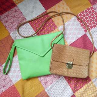 Pouch And Mini Sling Bag