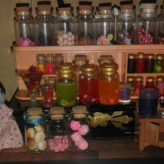 Miniature Jams and Juice in Jars
