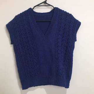 Blue Knitted vest