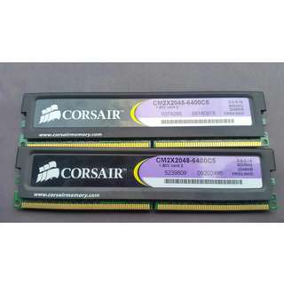 RAM CORSAIR XMS2 4GB (2 x 2GB) 240-Pin DDR2 SDRAM DDR2 800 (PC2 6400)