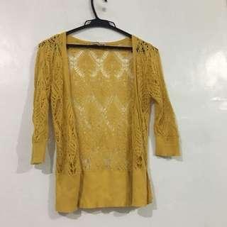 Knitted Blazer (Golden Yellow)