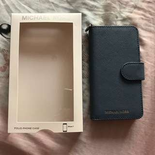 Michael Kors iPhone 7 Leather Folio Phone Case