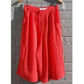 Orange 3/4 Culotte Pants