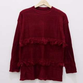 MAROON RUMBAI SWEATER