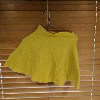 Yellow Knitted Skirt