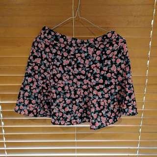 Floral.Mini Skirt