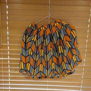 Orange.Mini Skirt