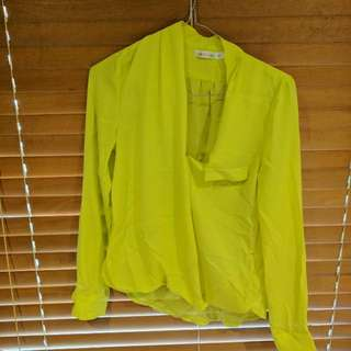 Yellow Shirt In Size 6 Loose Fit