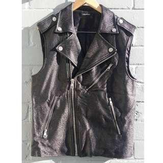 Oversized Moto Style Vest