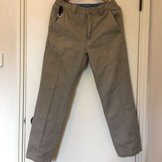 Fingercroxx Men Long Straight Pant Khaki|卡其色直腳長褲