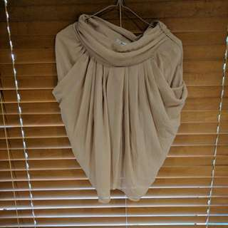 Drape Nude Skirt In Small