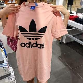 Adidas 粉紅綿T