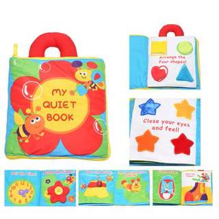 Multifunction Baby Puzzle Shapes Cloth Book Toy