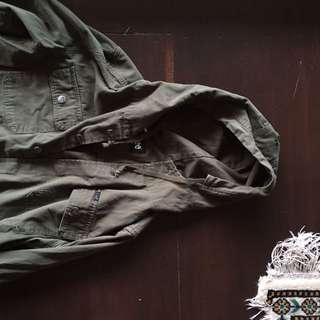 Lee Men's Khaki Hoodie Cotton Jacket