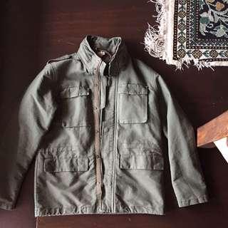 Men's H & M Army Jacket Khaki Green