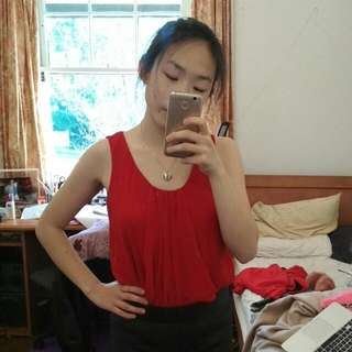 Dressy Red Top