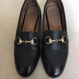 Loafer 歐美時尚 黑色英倫休閒鞋