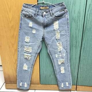 含運✨OB嚴選 刷破牛仔褲 男友褲 #我的旋轉衣櫃