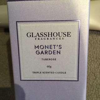 Brand New Glasshouse 60g Candle - Monet's Garden
