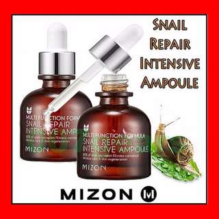MIZON Snail Repair Intensive Ampoule Essence Serum Innisfree Biore Shiseido Sunblock