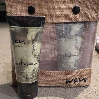 Wen By Chad Dean Travel Kit With X2 Sweet Almond Conditioning Cleanser