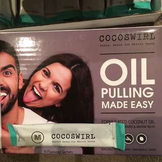 Cocoswirl  Dental Detox Oil Pulling Sachets