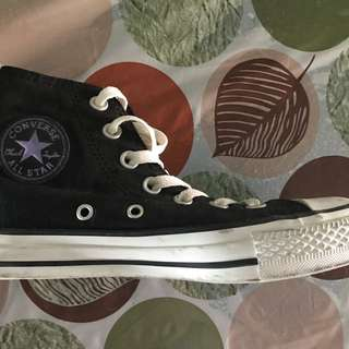 Converse Black Highcut (Authentic)