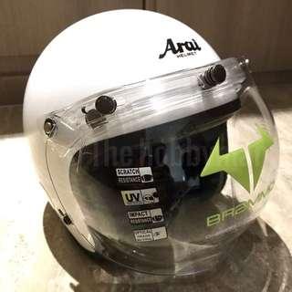 Helmet Visor , Bubble Visor, 3 Button, Brammo USA, Great for Harley Davidson, Honda Wave, Ducati Scrambler, Triumph And Moto Guzzi