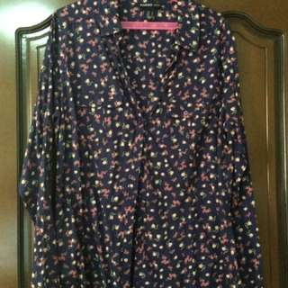 Mango 3/4 sleeved floral blouse