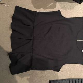 Size 12 Black Peplum Top Good Condition  $10 Ono Pick Up In Caulfield East or can post at buyers expense