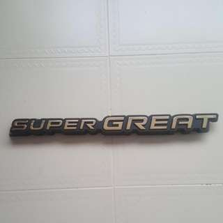 Fuso Super Great Front Grill Emblem (GOLD)