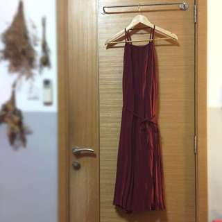 High Neck Pleated Dress *BRAND NEW*