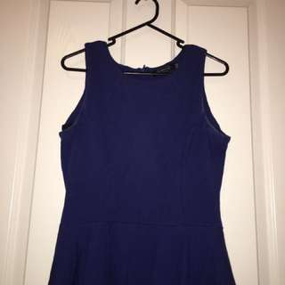Glassons Blue Peplum Top