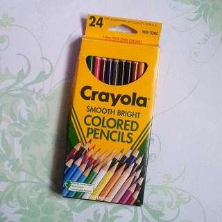 Used Crayola Coloured Pencils