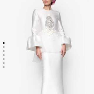 Rizalman Camellias Puff Dress - FOR RENT