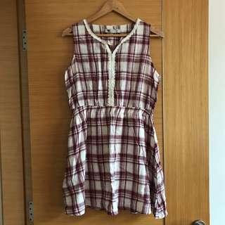 TEMT Plaid Dress