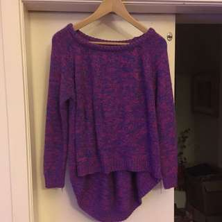 Purple, Red And Blue Mixed KnitWear