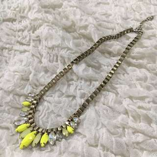 Yellow Stabilo Beads Necklace
