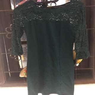Dress Brukat Forever21