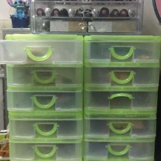 Green organizer 4pcs.  set